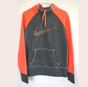 Nike hoodie sweatshirt gray orange medium thumb